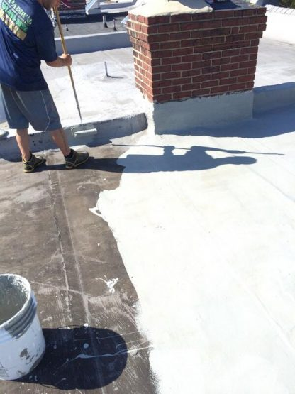 Applying Roof Sealer